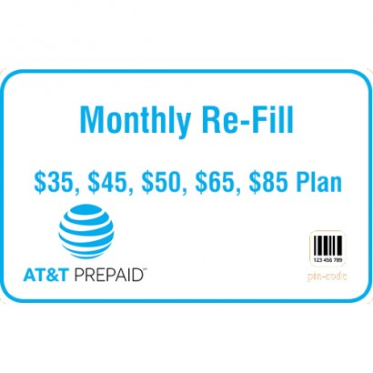 AT&T Prepaid Monthly Refill