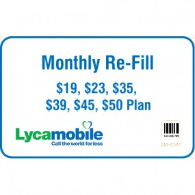 Lyca Mobile Monthly Refill