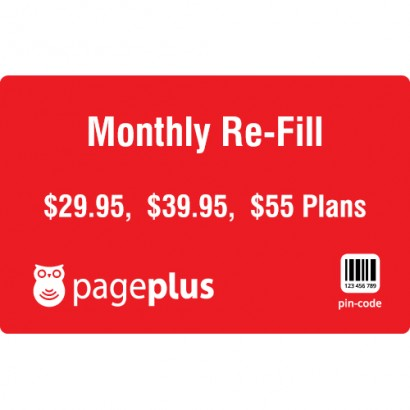 Pageplus Monthly Refill