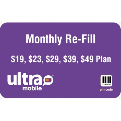 Ultra Mobile Monthly Refill