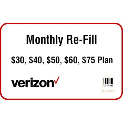 Verizon Prepaid Monthly Refill