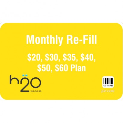 H2O Wireless Monthly Refill
